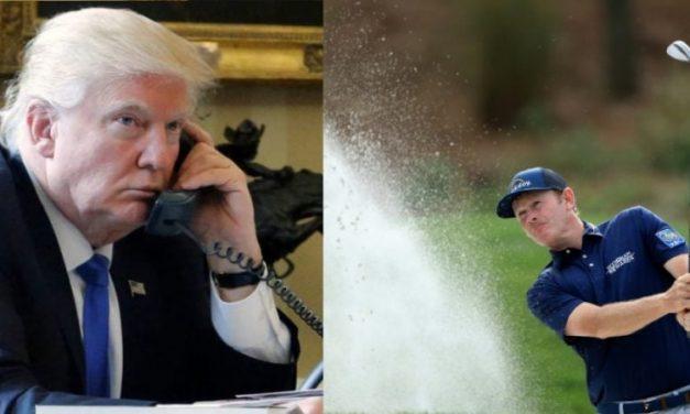 ¡Todo Para Culpar a Obama! Trump Irrumpió la Cobertura Deportiva de la PGA y Volvió a las Excusas de Siempre