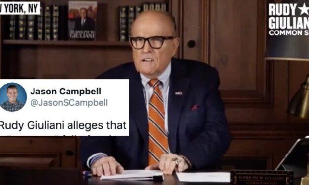Reaparece Giuliani. Ahora con una Delirante Conspiración Sobre Secretos Tesoros de Antifa y los Relojes Rolex