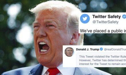 """Twitter da un Paso Audaz de Censurar el Tweet de Trump por Amenazar con """"Comportamiento Abusivo"""""""