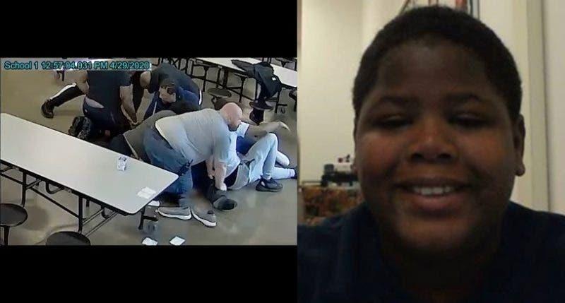 Nuevo Video Muestra a un Adolescente Negro Axfixiado Hasta la Muerte por 8 Adultos por Arrojar un Sándwich
