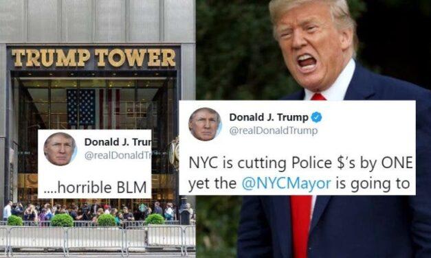 """Trump Dice Que """"Las Vidas Negras Importan"""" es un """"Símbolo de Odio"""" en un Tuit Sobre la Calle de su Torre"""