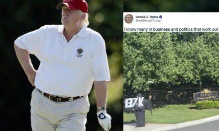 Realmente, Esto Podría no Ser Noticia, Excepto Por el Hombre Que lo Esperaba Fuera de su Campo de Golf
