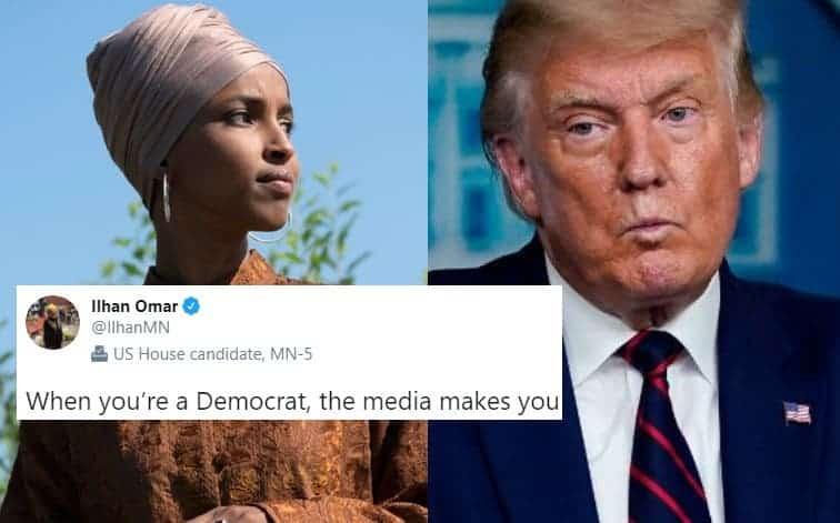 Los Medios se Niegan a Cubrir a Peligrosos Terroristas que Apoyan a Trump: e Ilhan Omar no Quiso Pasarlo Por Alto
