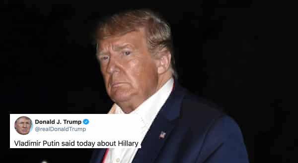 Tú Puedes Usar el Tuit de Trump Burlándose de la Digna Derrota de Hillary Para Burlarte de Él. ¡Karma!