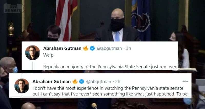 Estalla el Caos Luego Que Republicanos de Pensilvania no Aceptan a Senador Demócrata Recién Elegido
