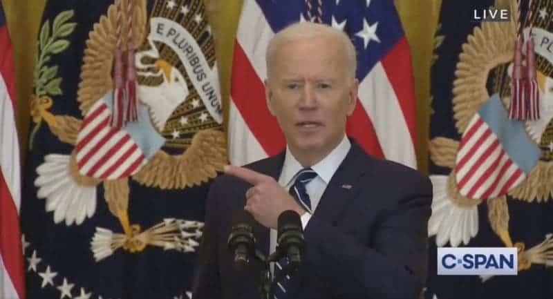 Biden Destrozó los Esfuerzos Republicanos de Supresión de Votos en su Primera Conferencia de Prensa