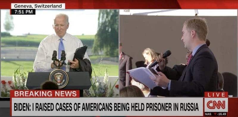 Parón en Seco: el de Biden al Reportero de Fox News en Medio de una Pregunta en la Cumbre de Rusia