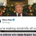 Trump Emite Advertencia sobre Molinos de Viento Asesinos en el Extraño Clip de Hannity