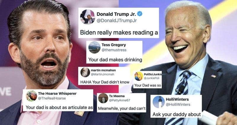 Donald Trump Jr. Atacó a Biden, Pero las Redes Sociales le Recordaron Que Tiene el Tejado de Vidrio