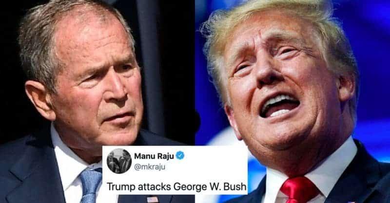 Vergonzoso Ataque de Trump Contra Bush: Al Menos Aquel no Enfrentó Dos Juicios de Destitución